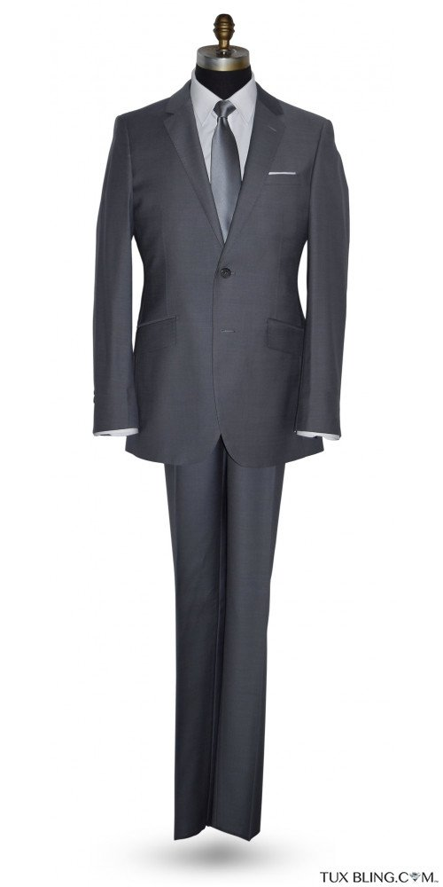 STORMY GRAY SLIM FIT SUIT - WOOL CASHMERE
