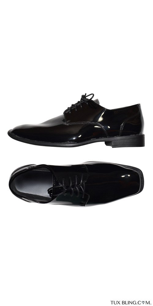 TUXEDO SHOES BLACK LACE-UP