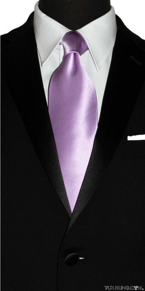 men's lavender-wisteria log dress tie