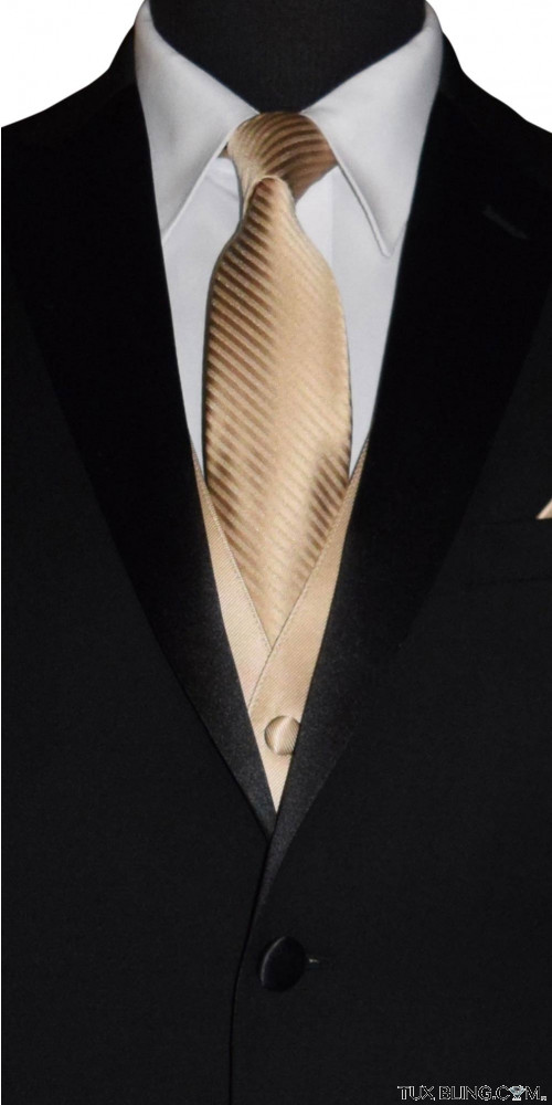 golden dress tie for men