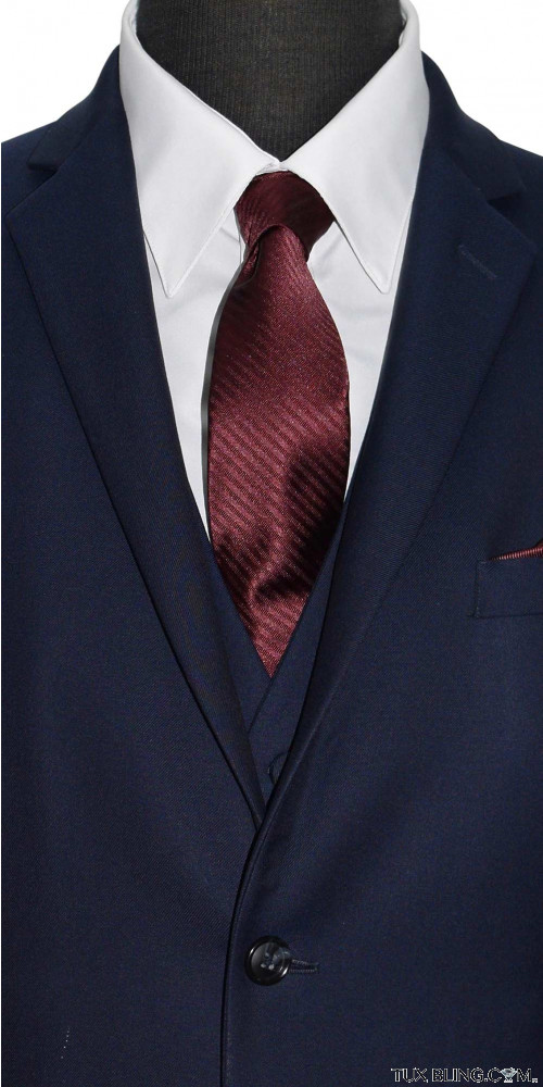 MERLOT DRESS TIE WITH SUBTLE STRIPE - TIE YOURSELF