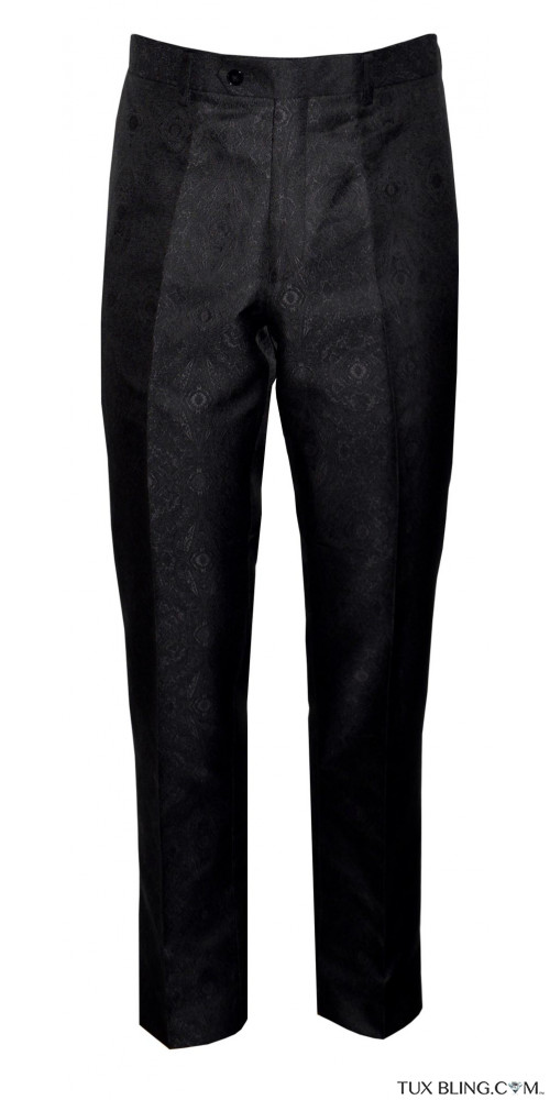 PAISLEY BROCADE DRESS PANTS