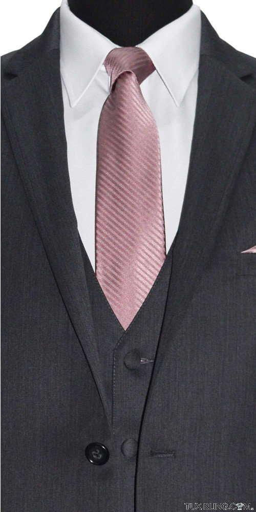 QUARTZ DRESS TIE WITH SUBTLE STRIPE - TIE YOURSELF