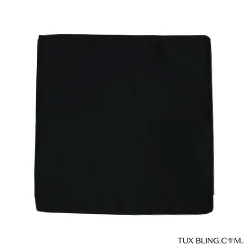 black pocket handkerchief