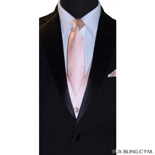 blush color men's tie