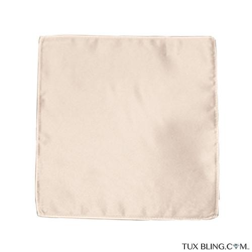 champagne pocket handkerchief by San Miguel Formals