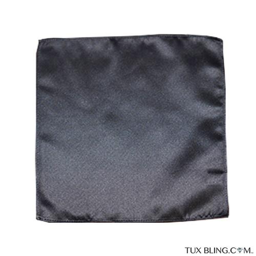 charcoal pocket handkerchief by San Miguel Formals