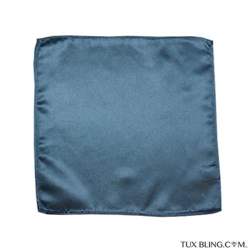 serene blue pocket handkerchief by San Miguel Formals