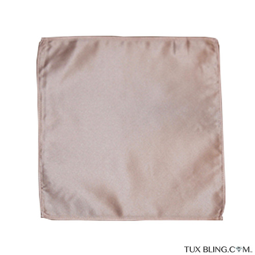ROSE-GOLD POCKET HANDKERCHIEF