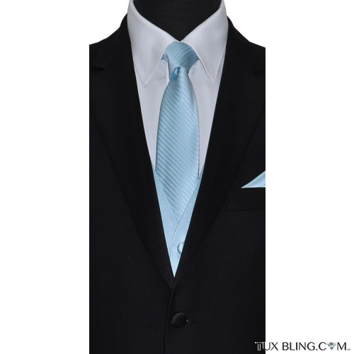 men's capri blue long tie by San Miguel Formals