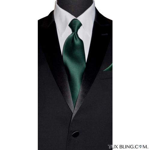 HUNTER GREEN DRESS TIE