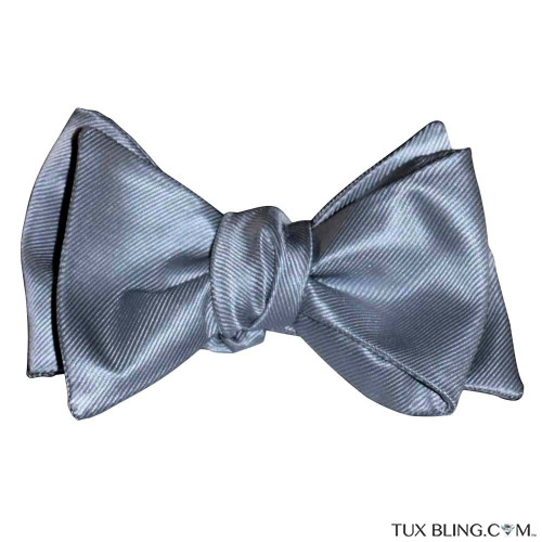 SILVER BOWTIE-TIE YOURSELF
