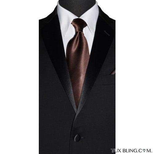 cocoa brown long tie for men