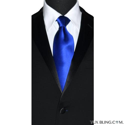 royal blue men's silk dress tie