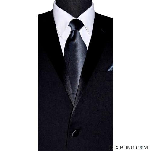 men's charcoal dress tie