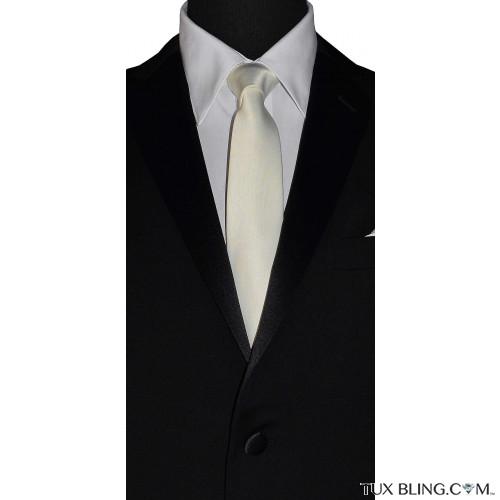 IVORY SKINNY DRESS TIE