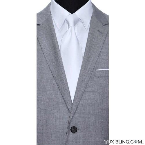 WHITE DRESS TIE CLASSIC-LOW SHEEN