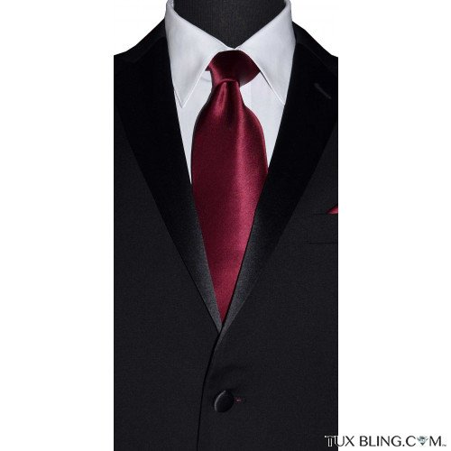 wine silk men's long dress tie