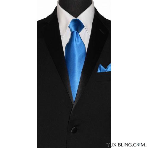 LIGHT BLUE SAPPHIRE SILK DRESS TIE