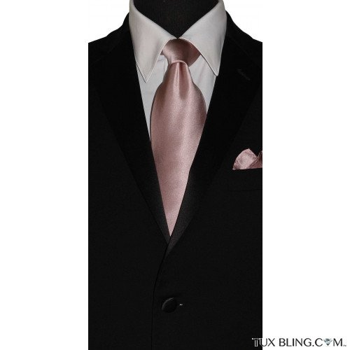 men's ballet-rose silk dress tie at TuxBling.com