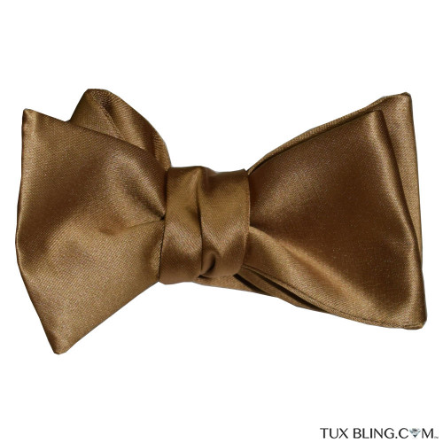 GOLD SATIN BOWTIE -TIE YOURSELF