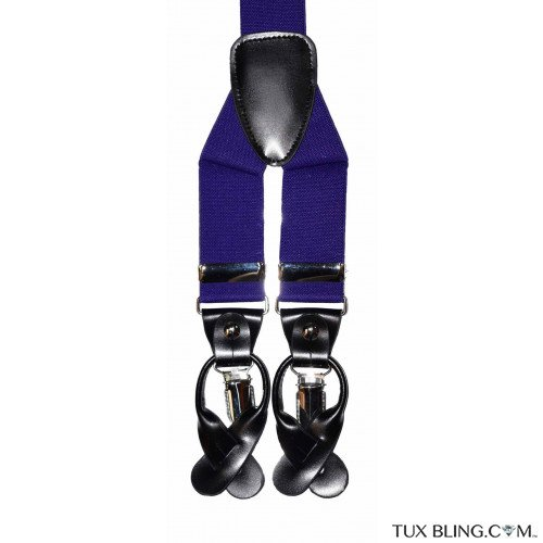 REGENCY PURPLE SUSPENDERS