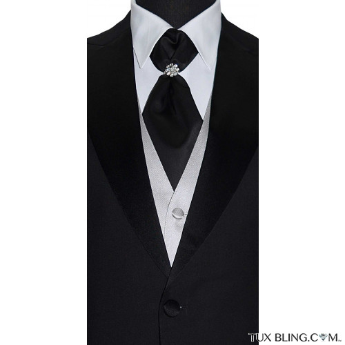 men's black cravat