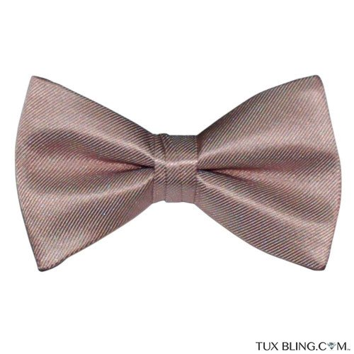 ROSE GOLD BOWTIE, PRE-TIED