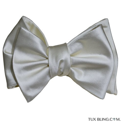 BIG CREAM SILK BOWTIE-TIE YOURSELF
