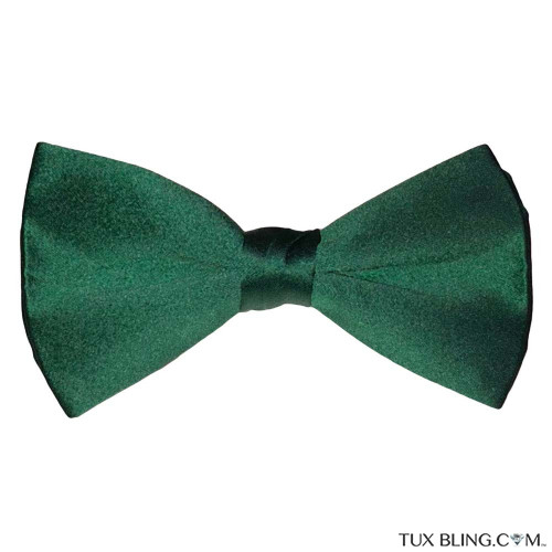 HUNTER GREEN BOWTIE, PRE-TIED