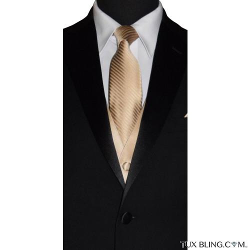golden dress tie for men