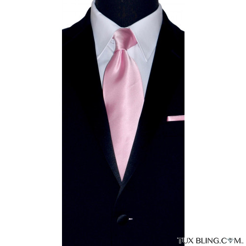 pink long tie for men with black tuxedo