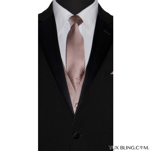 rose-gold dress tie by San Miguel Formals