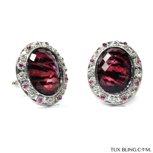 Ruby Jubilee Bling Cufflinks