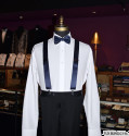 NAVY-BLUE SATIN SUSPENDERS