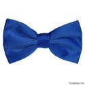 ROYAL BLUE SATIN BOWTIE,  PRE-TIED