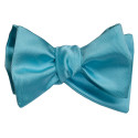 Turquoise Bow Tie and Pocket Hankie -TIE YOURSELF