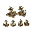 SHIPS ANCHORS CUFFLINKS AND STUDS SET