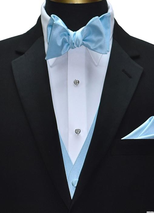 capri blue vest with capri-blue tie-yourself bowtie by San Miguel Formals
