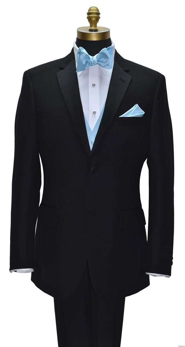 capri blue tie yourself bowtie and pocket handkerchief