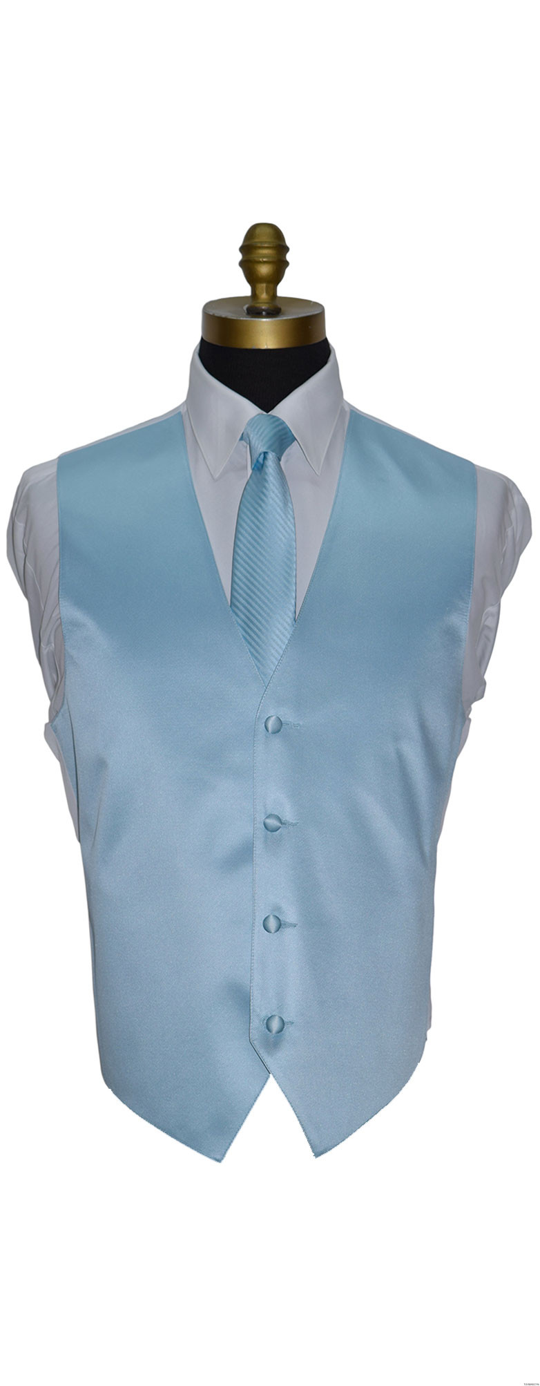 men's and boy's capri-blue dress tie and vest on tuxbling.com