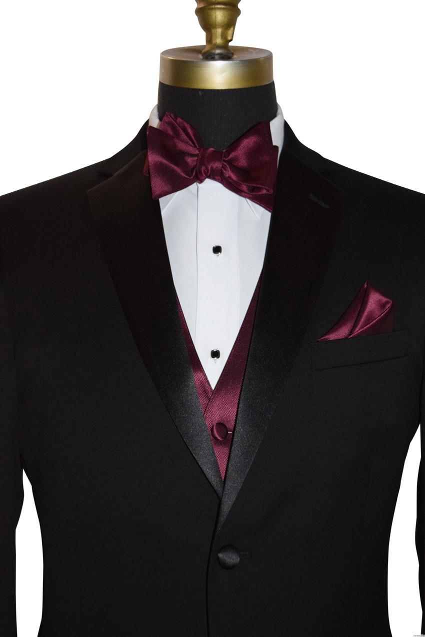 men's wine tie-yourself bowtie by San Miguel Formals