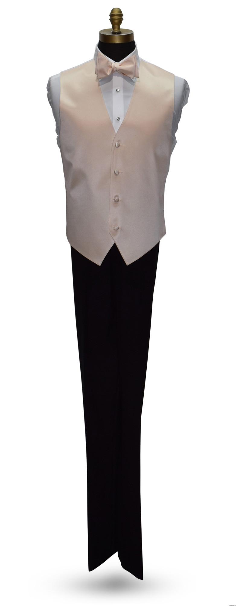 men's nude tuxedo vest and nude bowtie on tuxbling.com