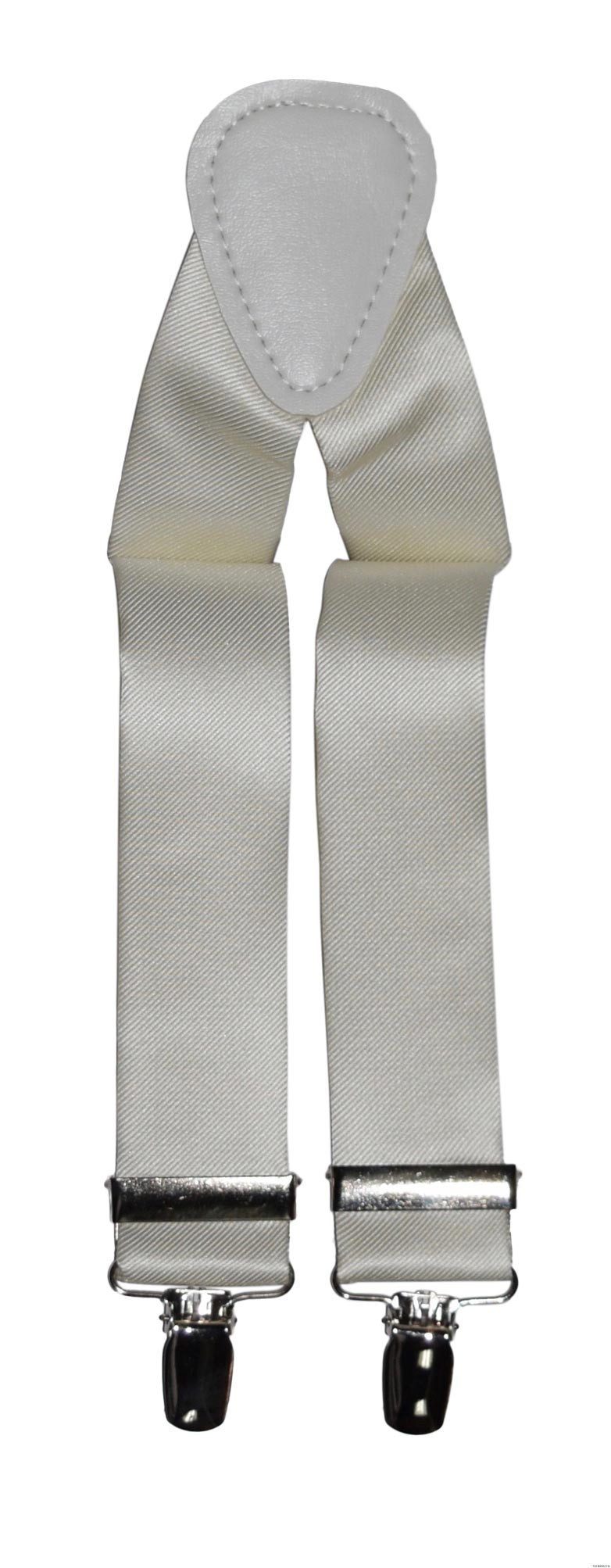 off-white ivory satin suspenders