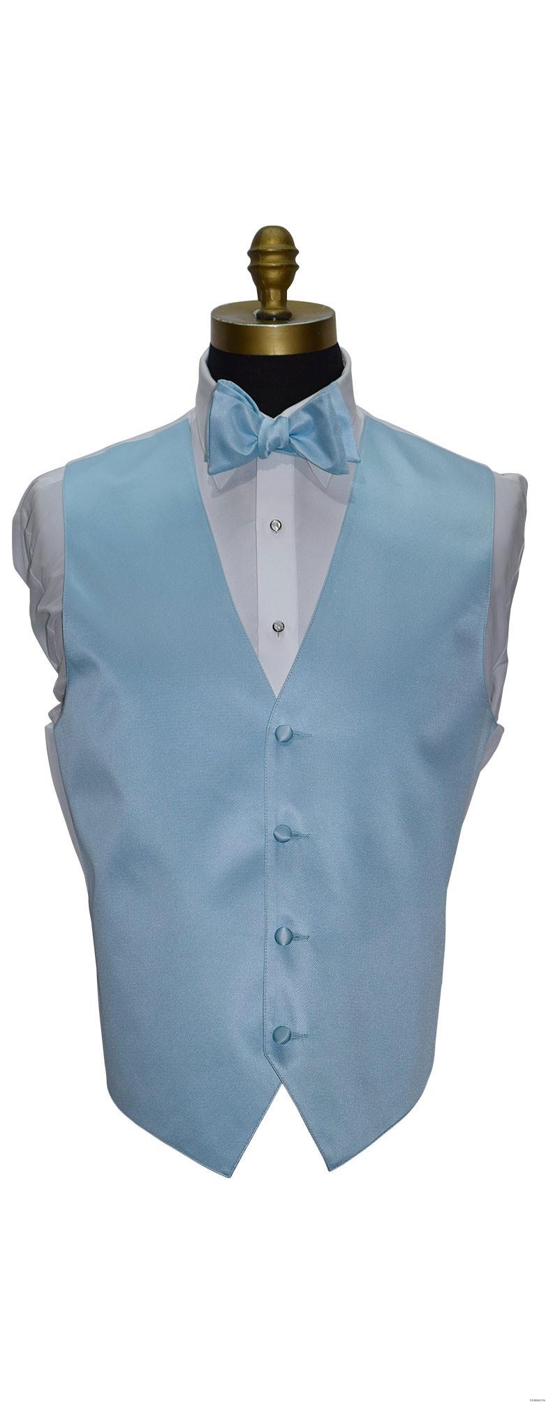 men's and boy's capri blue vest and bowtie by San Miguel Formals