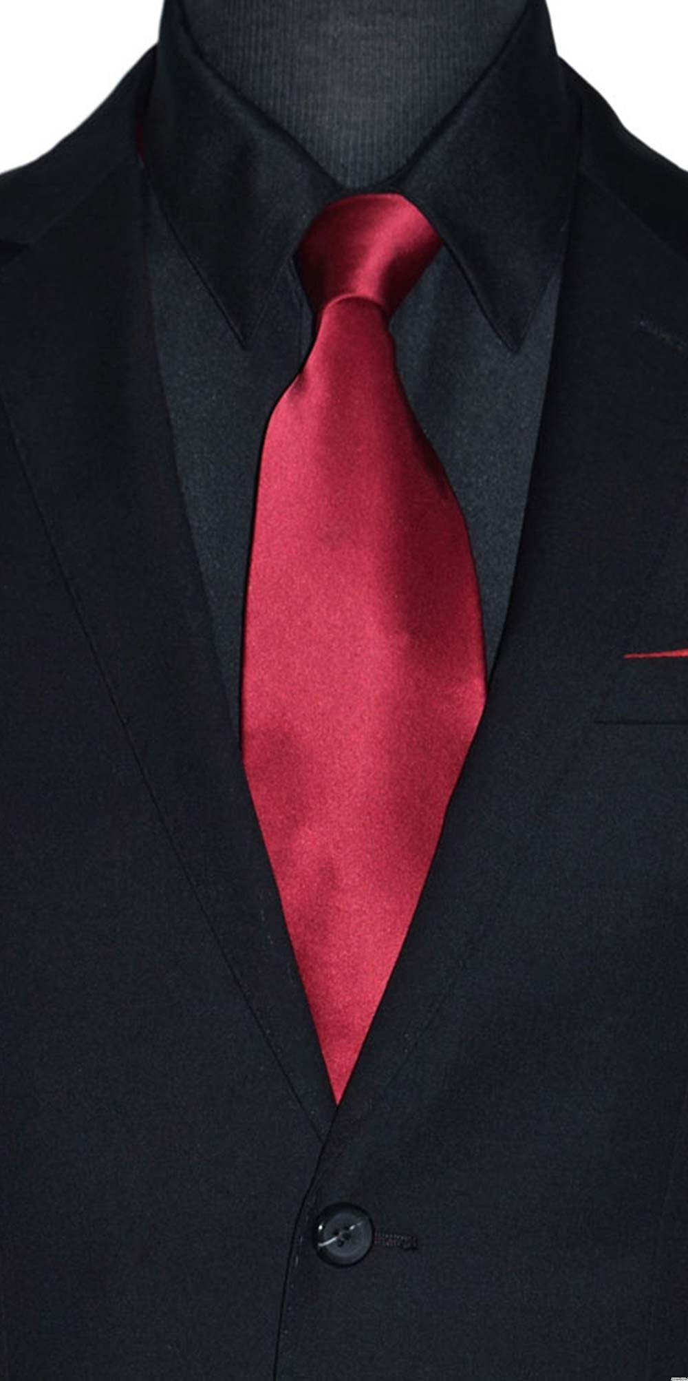 apple red silk men's ling dress tie