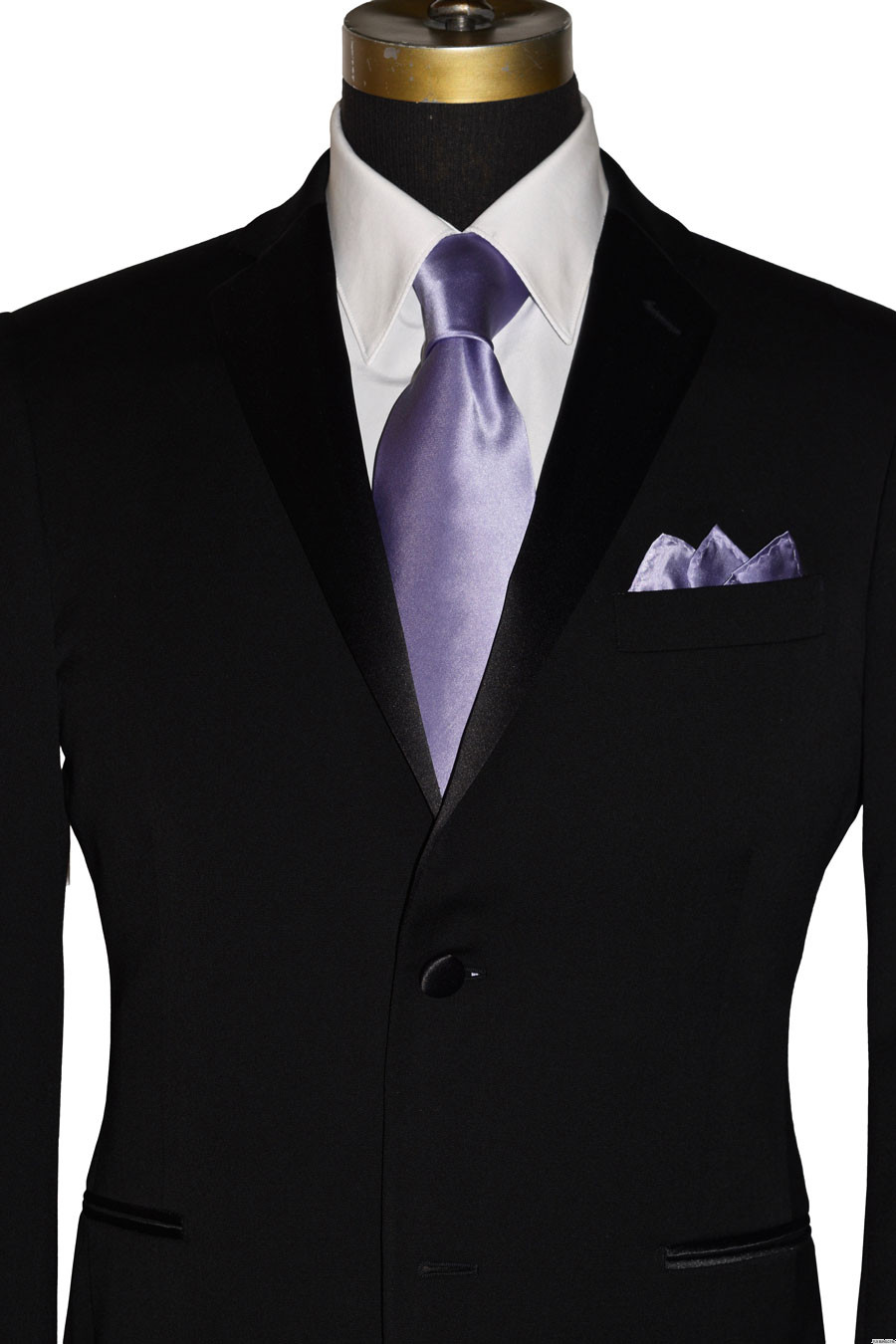 lilac-orchid men's silk dress