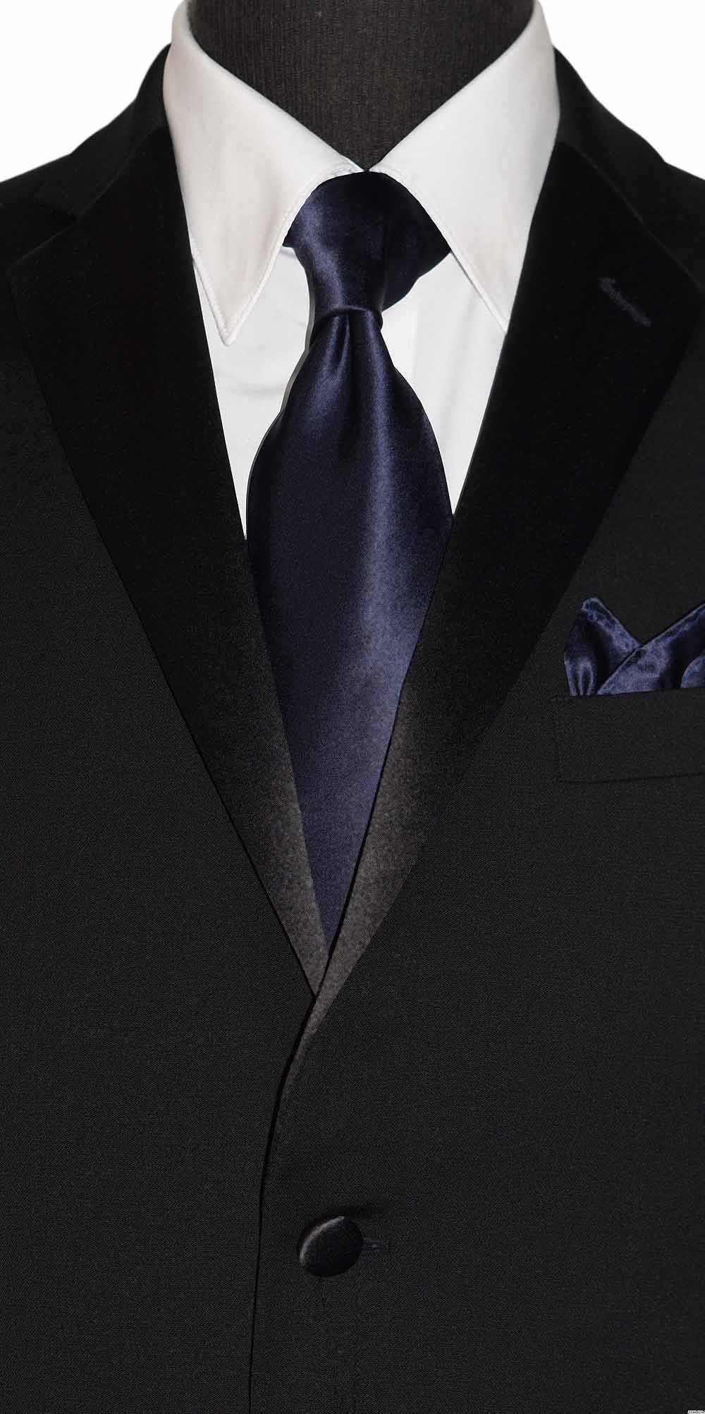 midnight blue men's dress tie silk