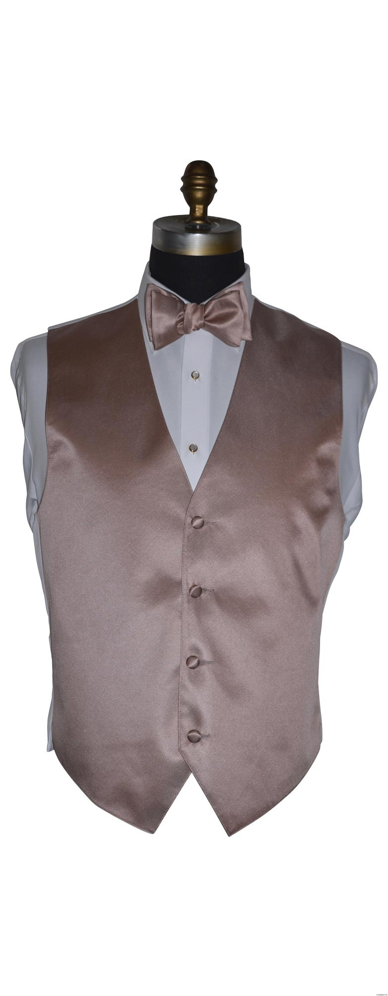 rose-gold vest and rose gold self tie bowtie bowtie for men on tuxbling.com