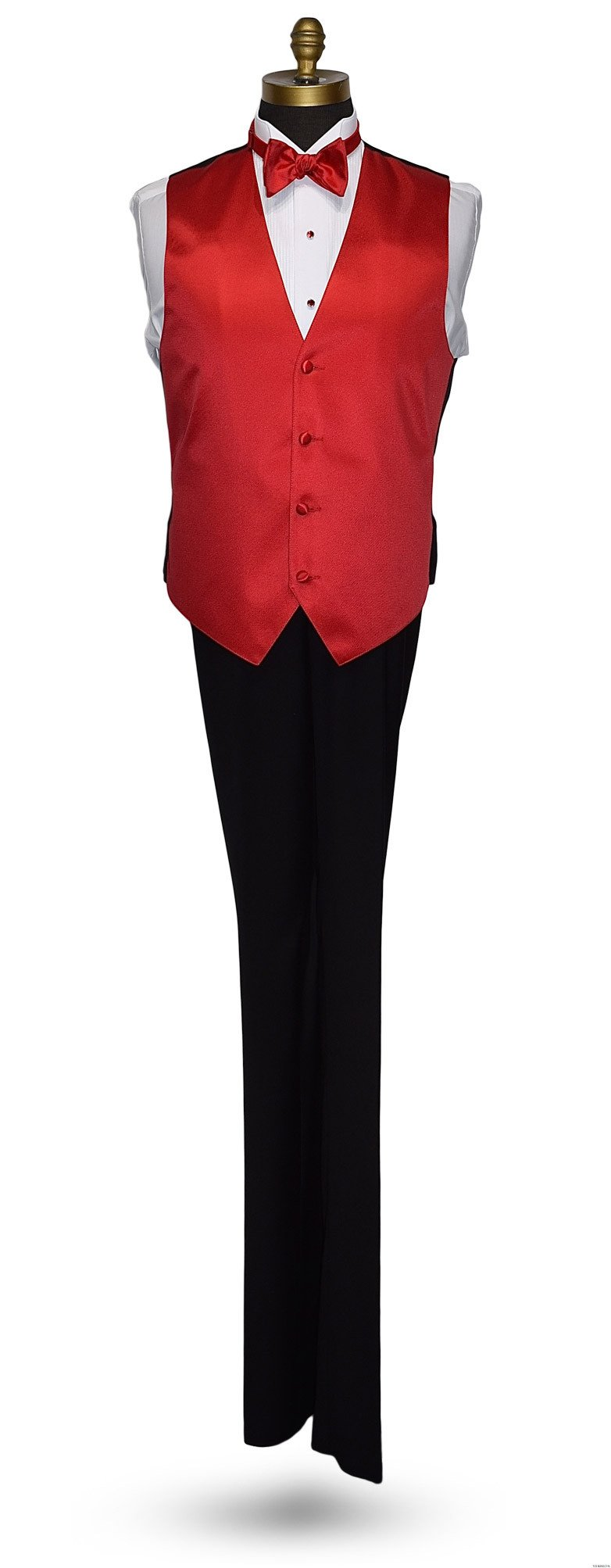 valentina ruby red vest and bowtie for men's tuxedo at tuxbling.com
